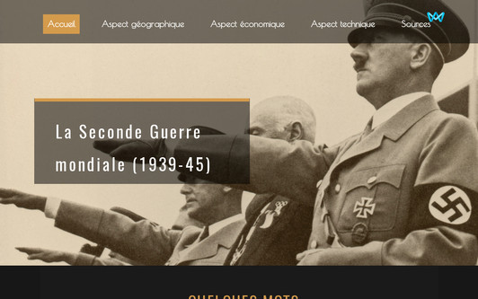 Site exemple La Seconde Guerre mondiale (1939-45)