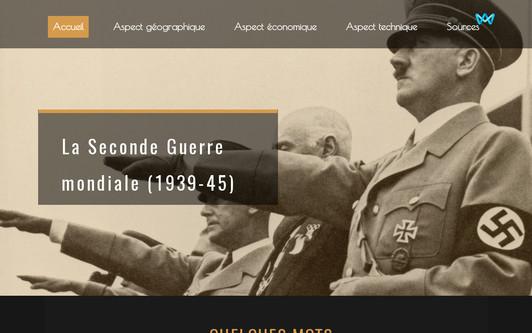Ejemplo de sitio web La Seconde Guerre mondiale (1939-45)