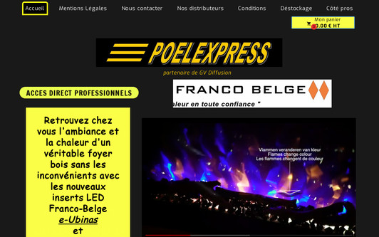Ejemplo de sitio web POELEXPRESS