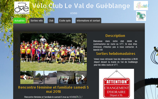 Ejemplo de sitio web Vélo Club Le Val de Guéblange