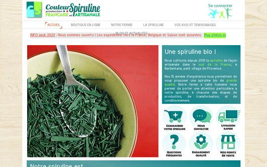 Ejemplo de sitio web Couleur Spiruline, ferme artisanale française de siruline