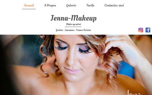 Ejemplo de sitio web Jenna MakeUp