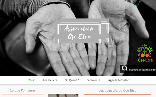Ejemplo de sitio web Association Ose Être