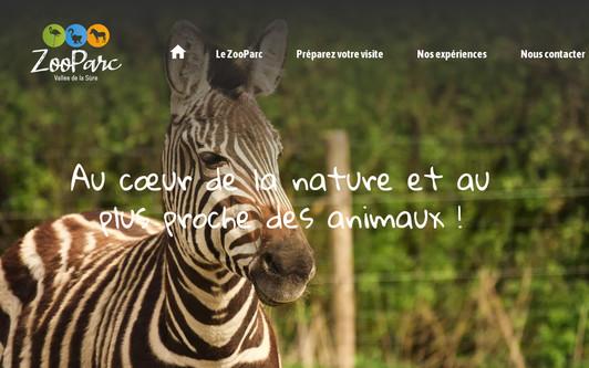 Site exemple ZooParc Vallée de la Sûre   Parc animalier à but non lucratif au cœur de l'Ardenne - Vaux-sur-Sûre