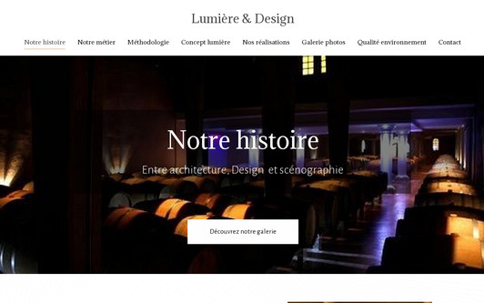 Site exemple Lumières & Design
