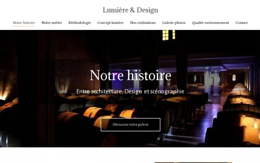 Site exemple Lumières & Design