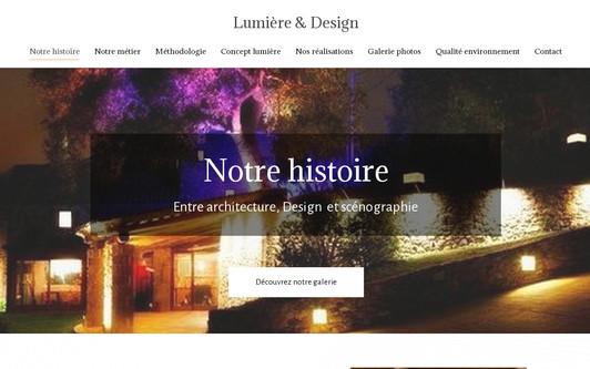 Ejemplo de sitio web Lumières & Design