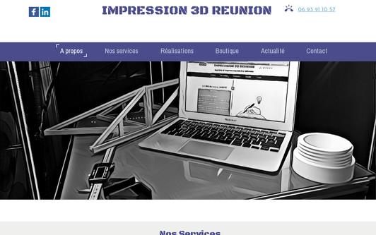 Ejemplo de sitio web KP3D, service d'impression 3D à la Reunion