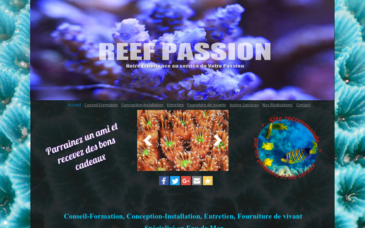 Site exemple REEF PASSION