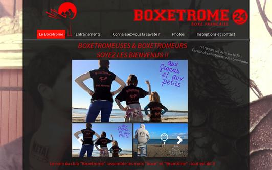 Ejemplo de sitio web Boxetrome