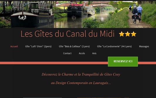 Example website Les Gîtes du Canal du Midi