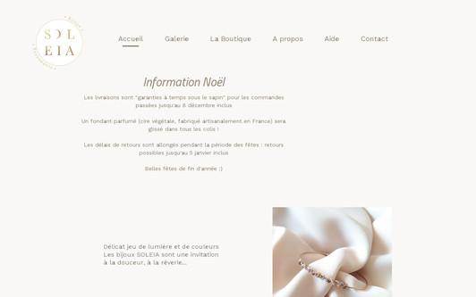 Ejemplo de sitio web soleia bijoux