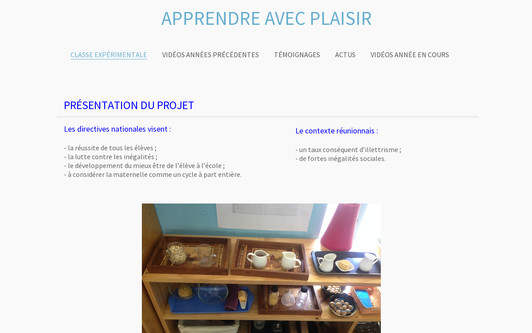 Example website apprendreavecplaisir