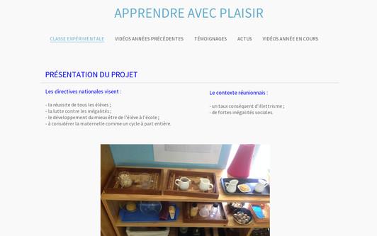 Ejemplo de sitio web apprendreavecplaisir