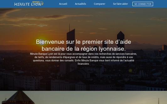 Example website Minute Bank