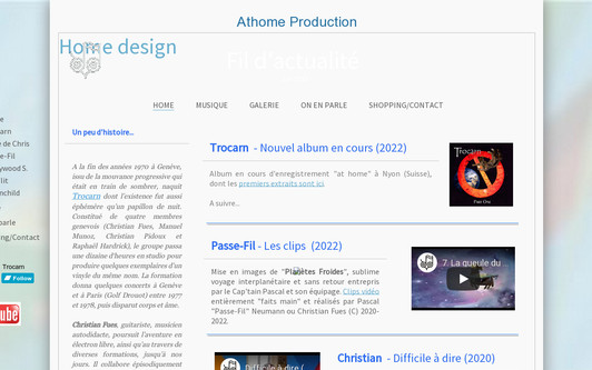 Example website Trocarn