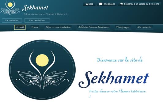 Example website Sekhamet ~ Accompagnement professionnel et personnel