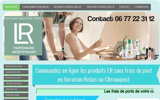 Ejemplo de sitio web Produits de soins LR