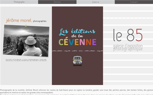 Example website Jérôme Morel - Les éditions de la Cévenne