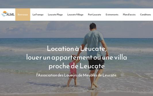 Ejemplo de sitio web Location Vacances à Leucate