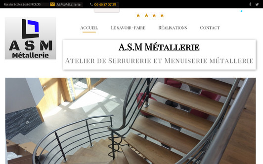 Example website ASM-Metallerie