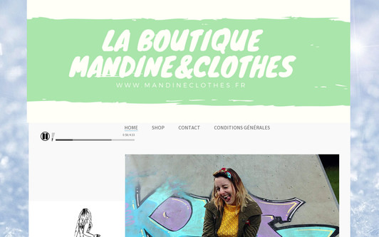 Site exemple La boutique Mandine&Clothes