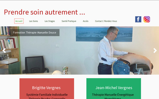 Example website Prendre soin autrement...