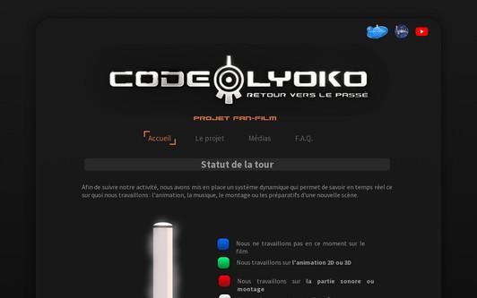 Ejemplo de sitio web Fan-Film : Code Lyokô Chronicles, Le Château Souterrain