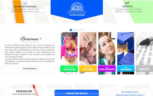 Ejemplo de sitio web Cours Zhishan