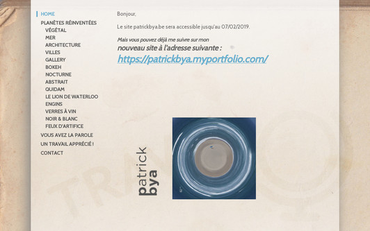 Ejemplo de sitio web Patrick Bya Photography - Little Planet