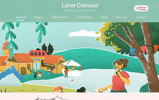 Site exemple Léna Canaud illustratrice et conceptrice multimédia