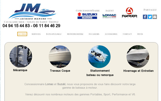Site exemple Jacques Marine
