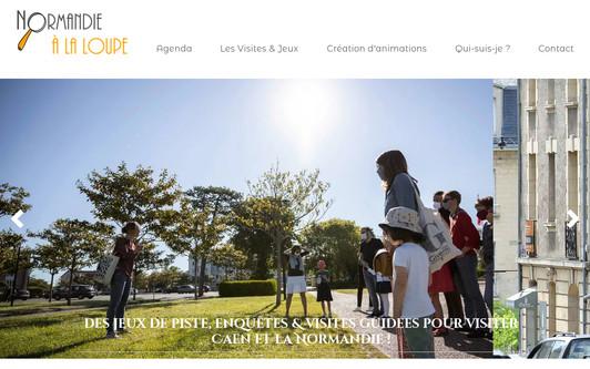 Ejemplo de sitio web Normandie à la Loupe