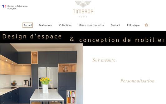 Ejemplo de sitio web Timbror Home