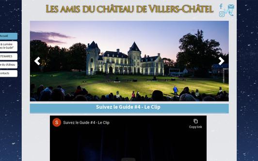 Example website Association les amis du château de Villers-Châtel