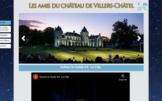 Ejemplo de sitio web Association les amis du château de Villers-Châtel