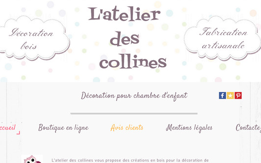 Site exemple L'atelier des collines