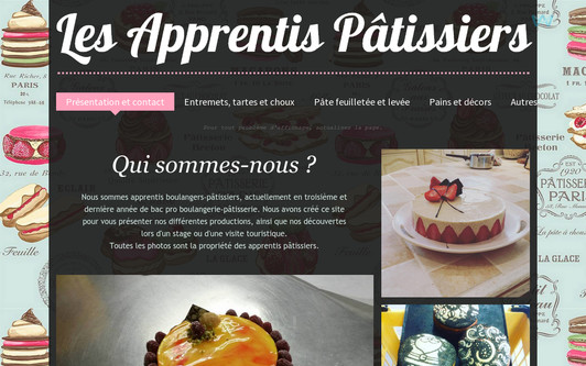 Site exemple Les Apprentis Pâtissiers