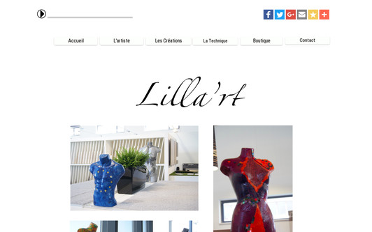 Example website Lilla'rt