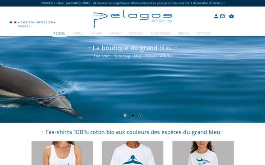 Ejemplo de sitio web Tee-shirt Pelagos