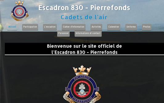 Example website Escadron830