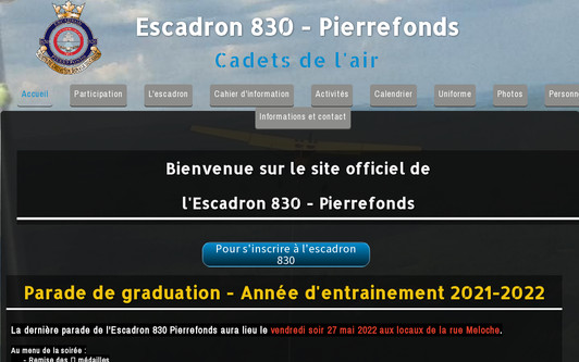 Site exemple Escadron830