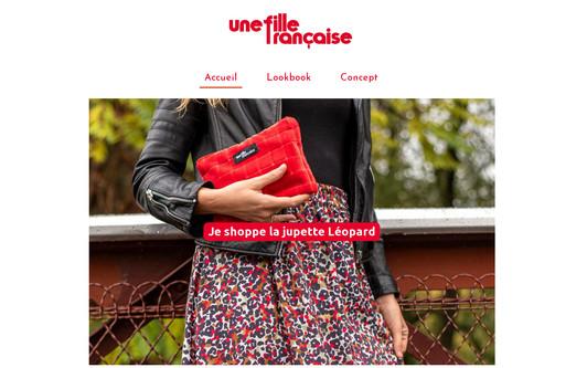 Ejemplo de sitio web Une fille française - Vestiaire made in France à prix doux