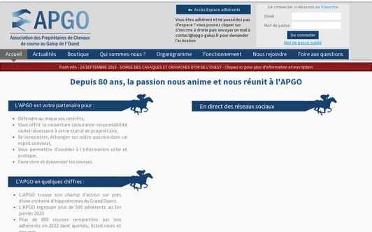 Example website Association APGO