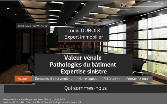 Example website Cabinet DUBOIS Expertises