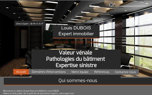 Ejemplo de sitio web Cabinet DUBOIS Expertises