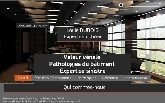Site exemple Cabinet DUBOIS Expertises
