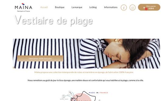 Ejemplo de sitio web Maïna France