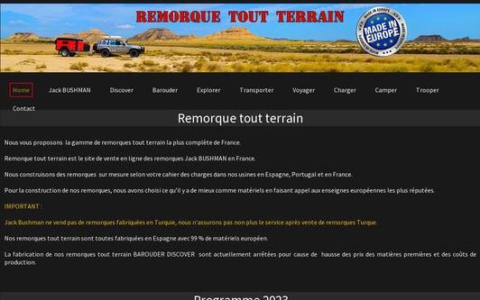 Site exemple NOMAD Raider remorques tout terrain crées en France