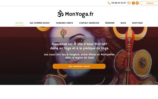 Ejemplo de sitio web monyoga